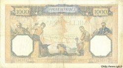 1000 Francs CÉRÈS ET MERCURE type modifié FRANCE  1939 F.38.40 pr.TTB