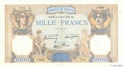 1000 Francs CÉRÈS ET MERCURE type modifié FRANCE  1940 F.38.45 pr.SPL
