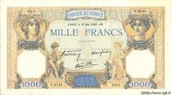 1000 Francs CÉRÈS ET MERCURE type modifié FRANCE  1940 F.38.48 TTB+