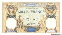 1000 Francs CÉRÈS ET MERCURE type modifié FRANCE  1940 F.38.49 SPL