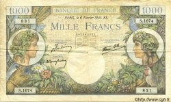 1000 Francs COMMERCE ET INDUSTRIE FRANCE  1941 F.39.04 TB