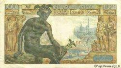 1000 Francs DÉESSE DÉMÉTER FRANCE  1942 F.40.01 pr.TTB