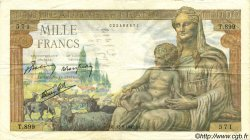 1000 Francs DÉESSE DÉMÉTER FRANCE  1942 F.40.04 pr.TTB