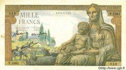 1000 Francs DÉESSE DÉMÉTER FRANCE  1942 F.40.05 TTB+
