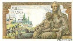 1000 Francs DÉESSE DÉMÉTER FRANCE  1942 F.40.06 SUP
