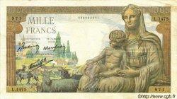 1000 Francs DÉESSE DÉMÉTER FRANCE  1942 F.40.08 TB