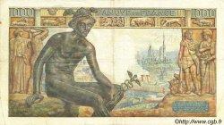 1000 Francs DÉESSE DÉMÉTER FRANCE  1942 F.40.13 pr.TTB