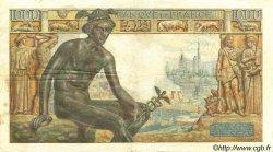 1000 Francs DÉESSE DÉMÉTER FRANCE  1943 F.40.15 TTB