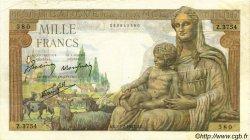 1000 Francs DÉESSE DÉMÉTER FRANCE  1943 F.40.18 TTB