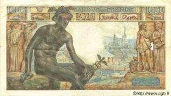 1000 Francs DÉESSE DÉMÉTER FRANCE  1943 F.40.18 TB