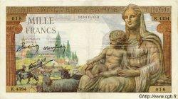 1000 Francs DÉESSE DÉMÉTER FRANCE  1943 F.40.20 TTB