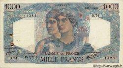 1000 Francs MINERVE ET HERCULE FRANCE  1945 F.41 TB