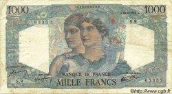1000 Francs MINERVE ET HERCULE FRANCE  1945 F.41.01 TB