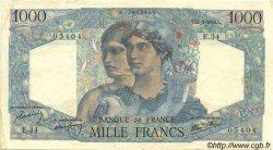 1000 Francs MINERVE ET HERCULE FRANCE  1945 F.41.03 pr.SUP