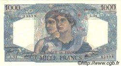 1000 Francs MINERVE ET HERCULE FRANCE  1945 F.41.05 SUP à SPL