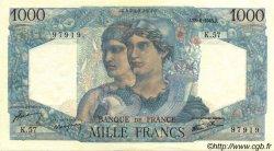 1000 Francs MINERVE ET HERCULE FRANCE  1945 F.41.05 SUP+
