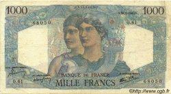 1000 Francs MINERVE ET HERCULE FRANCE  1945 F.41.05 TB