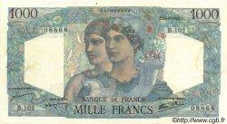 1000 Francs MINERVE ET HERCULE FRANCE  1945 F.41.07 pr.SUP