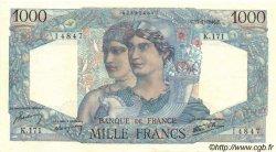 1000 Francs MINERVE ET HERCULE FRANCE  1946 F.41.10 SUP à SPL