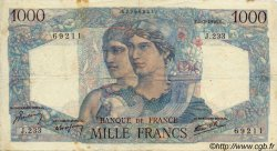 1000 Francs MINERVE ET HERCULE FRANCE  1946 F.41.12 pr.TTB