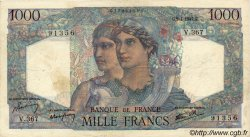 1000 Francs MINERVE ET HERCULE FRANCE  1947 F.41.18 pr.TTB