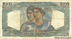 1000 Francs MINERVE ET HERCULE FRANCE  1949 F.41.25 pr.TB