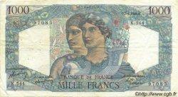 1000 Francs MINERVE ET HERCULE FRANCE  1949 F.41.26 TB