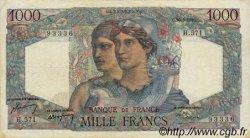 1000 Francs MINERVE ET HERCULE FRANCE  1949 F.41.27 pr.TTB