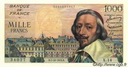 1000 Francs RICHELIEU FRANCE  1953 F.42.03 SUP+