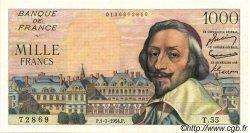 1000 Francs RICHELIEU FRANCE  1954 F.42.06 SUP
