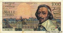 1000 Francs RICHELIEU FRANCE  1954 F.42.07 TB+