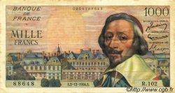 1000 Francs RICHELIEU FRANCE  1954 F.42.09 TTB