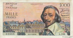 1000 Francs RICHELIEU FRANCE  1955 F.42.10 TTB+