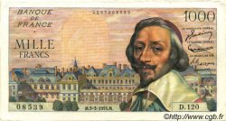 1000 Francs RICHELIEU FRANCE  1955 F.42.11 SUP