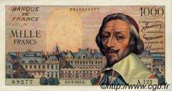 1000 Francs RICHELIEU FRANCE  1955 F.42.11 SUP