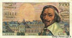 1000 Francs RICHELIEU FRANCE  1955 F.42.11 TTB