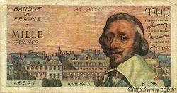 1000 Francs RICHELIEU FRANCE  1955 F.42.16 TB