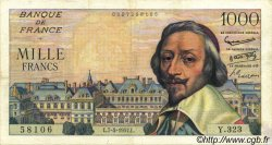 1000 Francs RICHELIEU FRANCE  1957 F.42.25 pr.TTB