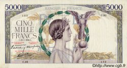 5000 Francs VICTOIRE Impression à plat FRANCE  1939 F.46.02 TTB+