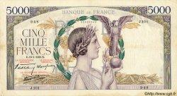 5000 Francs VICTOIRE Impression à plat FRANCE  1939 F.46.02 pr.TTB