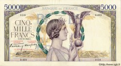 5000 Francs VICTOIRE Impression à plat FRANCE  1940 F.46.16 TTB