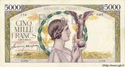5000 Francs VICTOIRE Impression à plat FRANCE  1941 F.46.22 TTB