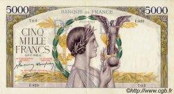 5000 Francs VICTOIRE Impression à plat FRANCE  1942 F.46.32 SUP+