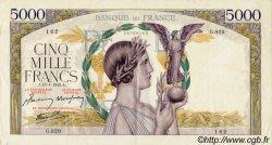 5000 Francs VICTOIRE Impression à plat FRANCE  1942 F.46.33 SUP