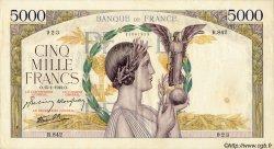 5000 Francs VICTOIRE Impression à plat FRANCE  1942 F.46.33 TTB