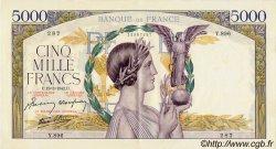 5000 Francs VICTOIRE Impression à plat FRANCE  1942 F.46.35 SUP à SPL