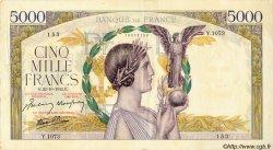 5000 Francs VICTOIRE Impression à plat FRANCE  1942 F.46.43 pr.SUP