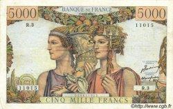 5000 Francs TERRE ET MER FRANCE  1949 F.48.01 TTB