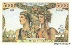5000 Francs TERRE ET MER FRANCE  1951 F.48.04 pr.SUP