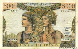 5000 Francs TERRE ET MER FRANCE  1953 F.48.09 pr.TTB